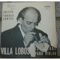 Lp 12 Estudos Villa Lobos Para Violao-solista Turibio Santos