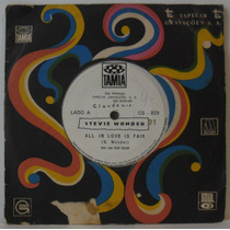 Compacto Vinil Stevie Wonder - All In Love Is Fair - Tamla