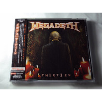 Megadeth Th1rt3en 2011 (novo)(obi)(japan) Cd Import