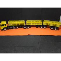 Caminhão Tritrem 9 Eixos Brinquedo Bitrem Rodotrem Treminhão