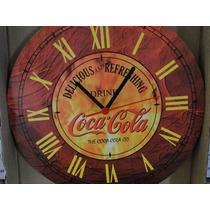 Relogio Cocacola Figura Antiga Garrafa Garrafinha Companhia