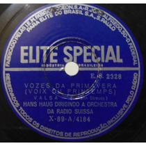 Disco Rotação 78 - Hans Haug E Orquestra Suissa - Vozes Da P