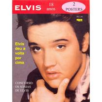 Revista Pôster Elvis Presley - 2 Pôsteres Gigantes