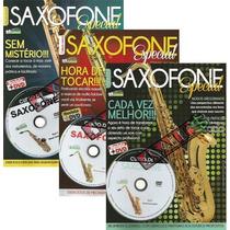 Kit 3 Revistas + Dvds Saxofone Especial Editora Minuano
