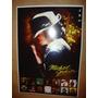Michael Jackson Poster C/ Discografia/thriller/ Frete Grátis