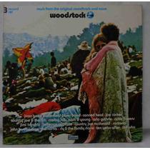 Woodstock Lp Triplo Nacional Usado Trilha Do Filme 1976