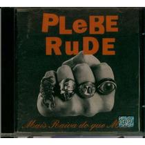 Cd Plebe Rude - Mais Raiva Do Que Medo - 1993