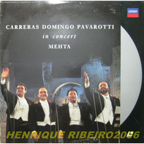 Carreras Domingo Pavarotti Ld Laser Disc In Concert Metha