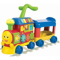 Brinquedo P/ Bebê Andador Trenzinho Musical C/ Luz E Sons