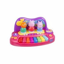 Peppa Pig Piano Com Personagens - Multikids