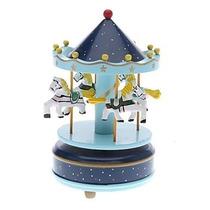 Carrossel Musical - Caixa De Música Cavalinhos - Bebê Quarto