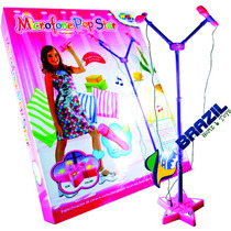 Microfone Infantil Pop Star Duplo Well Kids - Oferta!