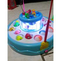 Pesca Infantil 10 Peixes Peq E 16 Grandes - Som Luz- Fret16