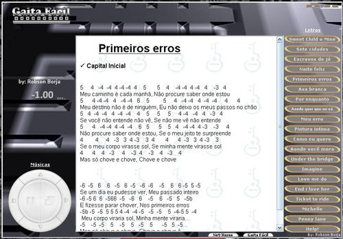 Musicas Cifradas Para Gaita + Playback P/ Soltar A Voz