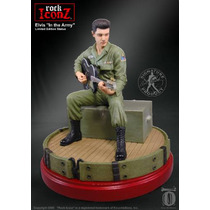 Elvis In The Army Rock Limited Edition Sculture Rock Iconz