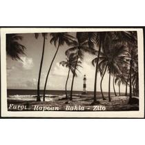 Cartão Postal Antigo Salvador Bahia Farol Itapuã 1962