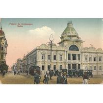 Postal Salvador, Bahia, Palacio Aclamação. Bonde E Carros.
