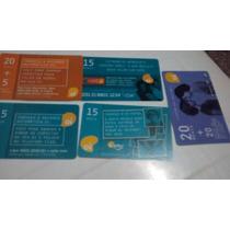 Lote 5 Cartão De Recarga Oi Para Colecionador (usado)