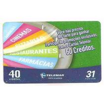 5861 Cartões Telefônicos 5 Tarjinhas Diferentes Ver Texto