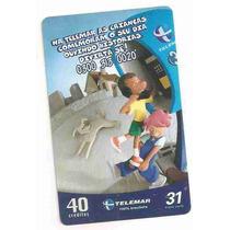 5877 Cartões Telefônicos 5 Tarjinhas Diferentes Ver Texto