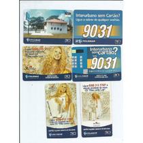 Tarjinhas - Pernambuco Cts. Telefonicos 06 Cartões - 5.00