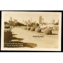 Cartão Postal Antigo Belo Horizonte Mg Praça Raul Soares