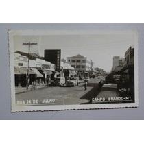 Cartão Postal Campo Grande - Mt - R. 14 De Julho - Dec. 50