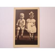 Foto Postal Antiga Tema Crianças