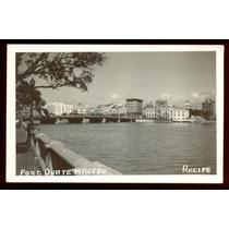 Cartão Postal Antigo Recife Pernambuco Ponte Duarte Macedo