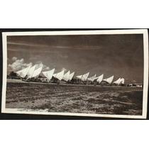 Cartão Postal Antigo Recife Pernambuco Praia Jangadas 1961