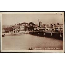 Cartão Postal Antigo Recife Pe Av.martins De Barros