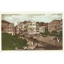 Recife, Praça Da Independência, Carros Antigos.