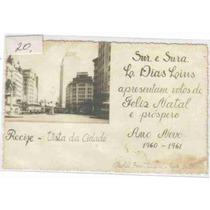 7548 Brasil Pe Postal Antigo Vista Recife 1960