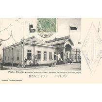 Postal Porto Alegre, Exposição 1901. Pavilhão. Ed. Comozato.