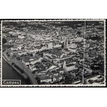 01 Cartão Postal Antigo Campos Dos Goytacazes Rj Panorama