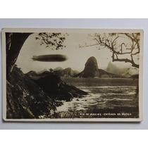 Postal Zeppelin No Rio De Janeiro Barra 1930 Não Circulado