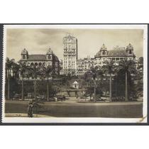 Postal Fotográfico Antigo, Parque Anhangabahú, São Paulo.