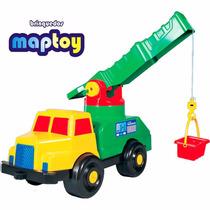 Brinquedo Caminhão De Plástico Super Guindaste Da Maptoy