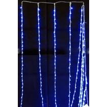 Cortina Com 320 Leds Azul Sequencial 3 Metros Por 2 Metros