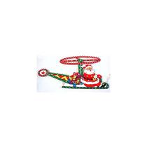 Enfeite Pisca Papai Noel Helicóptero 120 Lâmpadas 8 Funções