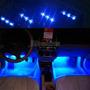 Luz Azul Interior De Veículo Tuning Car 4 Unid. X 3 Lampadas