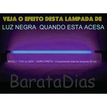 Lâmpada Luz Negra 30w 90 Cm Comprimento Tubular Bulbo T-10