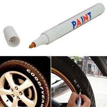 Caneta Tinta Pintar Pneu Carro Moto Triciclo