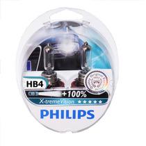 Par De Lâmpadas Philips X-treme Vision Hb4 Dobro De Alcance