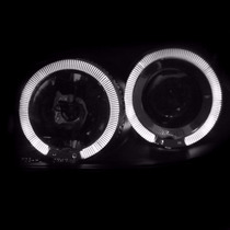 Par De Farol Projector Angel Eyes Led + Xenon Peugeot 206