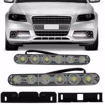 Fiat Milha Neblina Day Light 6 Led Super Branco Lampada 12v
