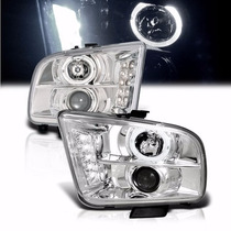 Par Farol C Milha Projetor Angel Eyes Led Xenon Ford Mustang