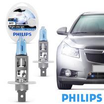 Lâmpada Do Farol Philips H1 Crystal Vision 4300k Luz Branca