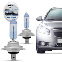 Par De Lâmpadas Philips Crystal Vision Ultra H7 Super Branc
