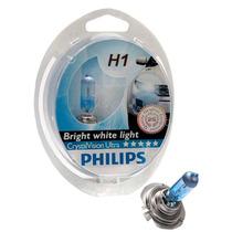 Par De Lâmpadas Philips Crystal Vision H1 4300k Super Branca